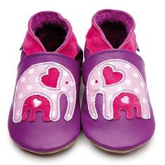 Inch Blue elle purple baby shoes