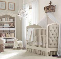 European Embroidered Trellis & European Vintage Washed Percale Nursery Bedding Collection