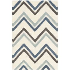 Found it at Wayfair - Cambridge Ivory / Blue Chevron Area Rug
