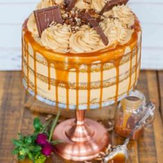 The ultimate pumpkine cake recipe! This stunning caramel pecan pumpkin cake with spices and salted caramel buttercream is perfect for fall! The Best Pumpkin Cake Recipe, Pumpkin Cake Recipes, Fall Dessert Recipes, Baked Pumpkin, Pumpkin Dessert, Pumpkin Cheesecake, Fall Desserts, Pumpkin Cakes, Fall Recipes