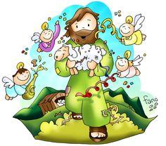 (Lc Vi sarà gioia nel cielo per un solo peccatore che si converte. Catholic Catechism, Catholic Kids, Kids Church, Jesus Cartoon, Children's Church Crafts, Jesus Artwork, Religion Catolica, Bible Stories, Bible Art