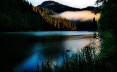 Rasarit la Lacul Rosu Romania, River, Celestial, Sunset, Country, Nature, Outdoor, Rural Area, Naturaleza