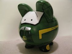 Tractor Piggy Bank - Kids Personalized Piggy Banks - (Inspired by John D) - MADE TO ORDER. $42.00, via Etsy.