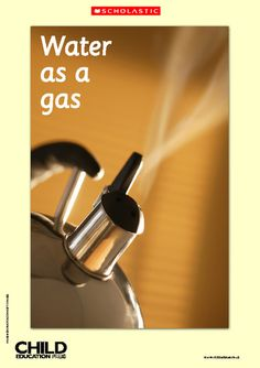 free poster : water as gas/solid/liquid