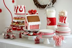 """""""2bites"""" beautiful Xmas table of their products"""