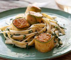 Zucchini-Wrapped Halibut