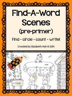 10 scenes containing 40 pre-primer Dolch words for students to find, count and write. In US and UK versions. $ #sightwords #Dolch #kindergarten #wordfinds