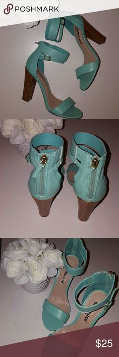 Dollhouse mint heels Worn once mint heels great condition may have some show of wear but not noticeable Dollhouse Shoes Heels