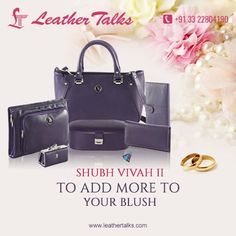 The most difficult task is to choose the most unique gift for a bride, especially when the bride is your best friend. Leather Talks solves all your problem by presenting before you a wide range of bridal accessories and packages. Priced only Rs. 10995, SHUBH VIVAH II is a complete travel package for a bride. #sevenpiece #travelaccessories http://leathertalks.com/product/shubh-vivah-21/