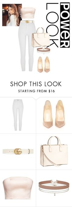 """Sem título #106"" by andick on Polyvore featuring moda, River Island, Christian Louboutin, Gucci, H&M e Miss Selfridge"