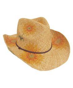 Look at this #zulilyfind! Natural Sunflower Raffia Cowboy Hat #zulilyfinds