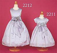 Flower Girl Dresses - Flower Girl Dress Style 2211B_2212B- Silk Dress in Choice of Color - BUILD YOUR OWN DRESS!