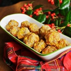 Sausage Cheese Balls (gluten-free) - a great appetizer for the holidays, or a midnight snack... #foodgawker