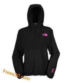 @Jeannie Murphy Shopjordans2013.com Wholesale Over Half off The North Face Denali Hoodie Womens Black Pink Ribbon