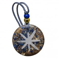 Orgonite pendant with lapis lazuli - the stone of truth