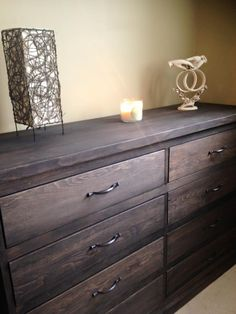 Pine Dresser with Espresso Stain and Satin Finish