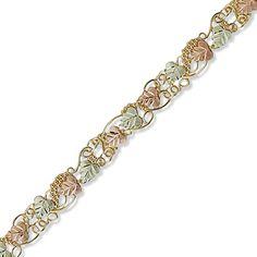 Black Hills Gold Leaf Fashion Bracelet - View All Bracelets - Zales Fashion Jewelry Necklaces, Fashion Bracelets, Fashion Rings, Gold Bracelets, Bangles, Black Hills Gold Jewelry, Summer Jewelry, Jewelry Trends, Jewelry Design