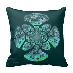 Dragonfly Lillies Flowers Pattern Pillow