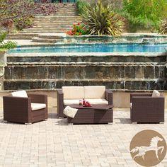 Christopher Knight Home Murano PE Wicker Outdoor 4-piece Sofa Set. #OSummer