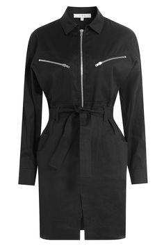 Iro - Linen-Cotton Shirtdress with Zips