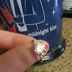 midnight kiss diamond candle and ring