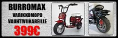 Varikkomopo / Sähkömopo Burromax Motorcycle, Vehicles, Motorcycles, Car, Motorbikes, Choppers, Vehicle, Tools
