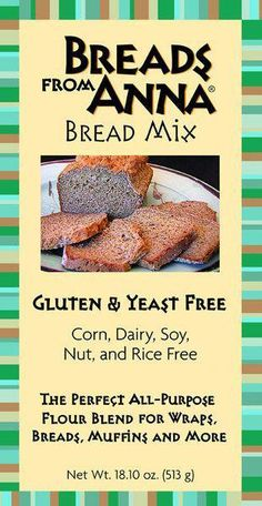 """Gluten & Yeast Free Bread Mix All-Purpose Self-Rising Flour Blend Some customers call this our """"Freedom Bread"""" because it allows them to enjoy the same excellent taste, texture, and nutritional benefi Allergy Free Recipes, Gf Recipes, Bread Recipes, Healthy Recipes, Yeast Free Breads, Millet Flour, Bean Flour, Bread Mix, Keto Bread"""