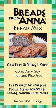 """Bread Mix """"Breads from Anna"""" — Gluten Free & Yeast Free Bread Mix - INGREDIENTS: tapioca starch, arrowroot, millet four, chia flour, chickpea flour, pinto bean flour, navy bean flour, cream of tartar, baking soda, xanthan gum, sea salt #shakeomugcake"""
