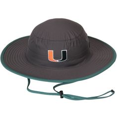 62ec4ef4746 Miami Hurricanes Top of the World Chili Dip Boonie Bucket Hat - Charcoal