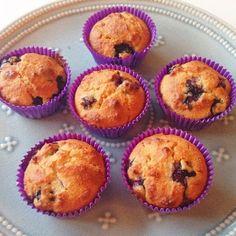 Healthy Living in Heels: Blauwe Bessen Muffins (Gluten vrij) 1121 calorieën receptuur delen Door aantal muffins