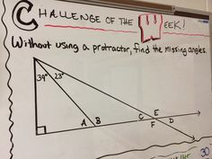 """Challenge of the Week. Lots of visuals and ideas for """"Challenge of the Week"""" questions!"""