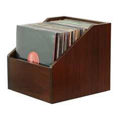 BIN-E LP STORAGE / JAVA CHERRY Bin-e, JAVA CHERRY, LP Storage LPBIN, lp record storage, LP Bin, Vinyl LP storage, LP Rack, LP Collection, Retail LP Storage