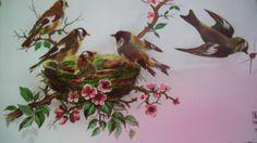 1950s Postcard Birds Nest  Paris Edition SuperLuxe Rare Tinted Card Vintage Ephemera