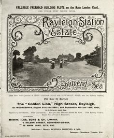 Rayleigh Through the Looking Glass -A photographical archive of historical Rayleigh. Property Sale, Golden Lions, Through The Looking Glass, Ephemera, Over The Years, Vintage World Maps, Nostalgia, The Past, Card Making