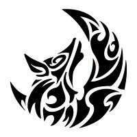 Tattoo of Wolf and moon, Search, passion tattoo - custom tattoo designs on TattooTribes.com