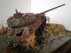 Т-34-85 — Каропка.ру — стендовые модели, военная миниатюра T 34, War Thunder, Model Tanks, Military Modelling, Military Diorama, Figure Model, Model Building, Photos Du, Plastic Models