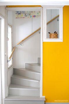 Yellow, grey and white