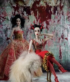 Haute Doll shoot 2014 'Spellbound Chalks' Photographed by Desmond