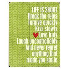Life Is Short Wall Decor - The Written Word on Joss & Main