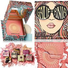 """Another Look  @benefitcosmetics NEW #BLUSH - #Galifornia Sunny Golden Pink Blush, shimmery finish + a Brush. And of course Benefit packaging is always #OnFleek - inspired by the """"surfer girls"""" of the 1970s and have printed sun-shaped embossed on the product ☀️ It smells like vanilla and grapefruit. #ComingSoon - #Spring2017 *we will keep u updated with more info soon Definitely on my list! What are your thoughts??  #Trendmood #benefit #benefitcosmetics #cosmetics #beauty #pink ..."""