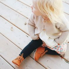gorgeous handmade leather baby boots from Adelisa & Co.