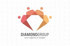 Diamond Group Logo - $250 (negotiable) http://www.stronglogos.com/product/diamond-group-logo #logo #design #sale #nonprofit #organization #people #community #gemstone #IT