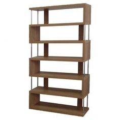 Javier 6-Tier Bookcase in Dark Brown