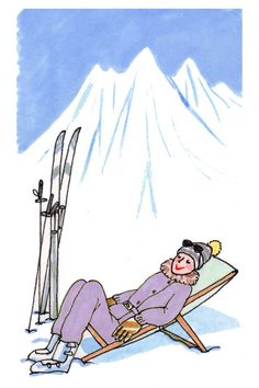 KANAKO   winter holiday Mountain Texture, Little Paris, Ski Girl, Marilyn Monroe Art, Hello Winter, Paris Pictures, Girls Magazine, Pretty Drawings, Ski Holidays