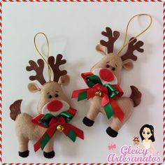 Renas de Natal de Feltro / Enfeites de Natal Snowman Christmas Ornaments, Christmas Clay, Christmas Applique, Etsy Christmas, Felt Ornaments, Rustic Christmas, Christmas Tree Decorations, Christmas Crafts, Holiday Decor