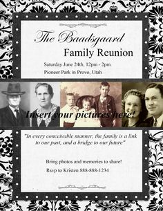Heritage Collector Storybook: Family Reunion Flyers, invitations and more ideas for your upcoming event! Fun Digital scrapbook pages.