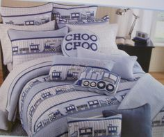 FROLICS CHILDRENS COLLECTION CHOO CHOO TRAIN 2 PC TWIN BED SET NIP $99.99