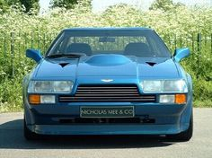 Blue V8 Vantage Zagato at NICHOLAS ME & CO  For more informations, please visit www.astonmartin-zagato.net