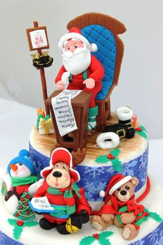 Christmas cake  Christmas Cake    Send us your favorite Christmas Birthday cake ideas. http://www.thenorthpole.com