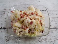 Made with iceberg lettuce, sweet onion, bacon, cauliflower, Parmesan cheese, sugar, salt, black pepper, mayonnaise | CDKitchen.com